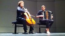Violoncelle et accordéon pour entamer le week-end en musique