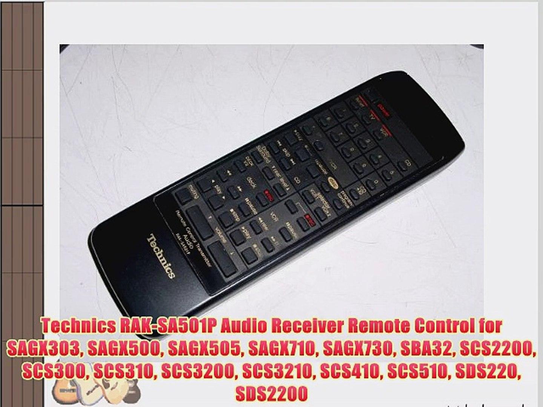 SAGX130 RAKSA303P SAG9013P Replacement Remote for TECHNICS SAGX330