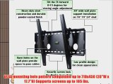 VideoSecu Tilt LCD LED TV Wall Mount for 32-65 LCD LED Plasma Television M80