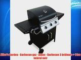 Alice's Garden - Barbecue gaz - Athos - Barbecue 3 br?leurs   1 feu lat?ral noir