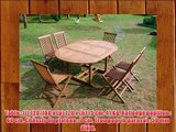 Salon de jardin en teck SWEETMIST ovale 6 chaises pliantes