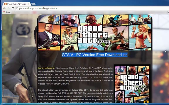 Grand Theft Auto V - Download for PC [ISO - RELOADED] 2015