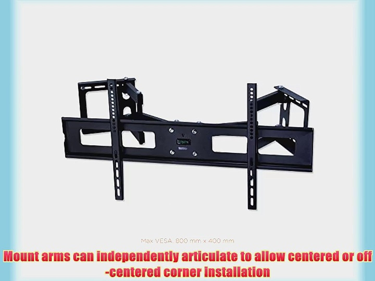 Mount It Articulating Corner Mount For Led Lcd And Plasma Tvs Up To 37 To 63 Tvs Mi 484c Video Dailymotion