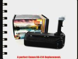 Vivitar BG-E14 Battery Grip for Canon EOS 70D DSLR Camera (Canon BG-E14 Replacement)   MagicFiber