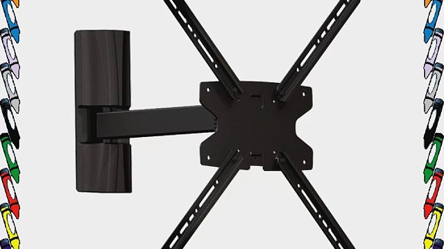 Space Saver 3-Way Motion Flat Screen TV Wall Mount Bracket for 17-Inch to 42-Inch Screens