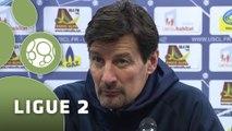 Conférence de presse US Créteil-Lusitanos - Stade Lavallois (1-0) : Thierry FROGER (USCL) - Denis ZANKO (LAVAL) - 2014/2015