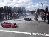 Burn loupe en moto