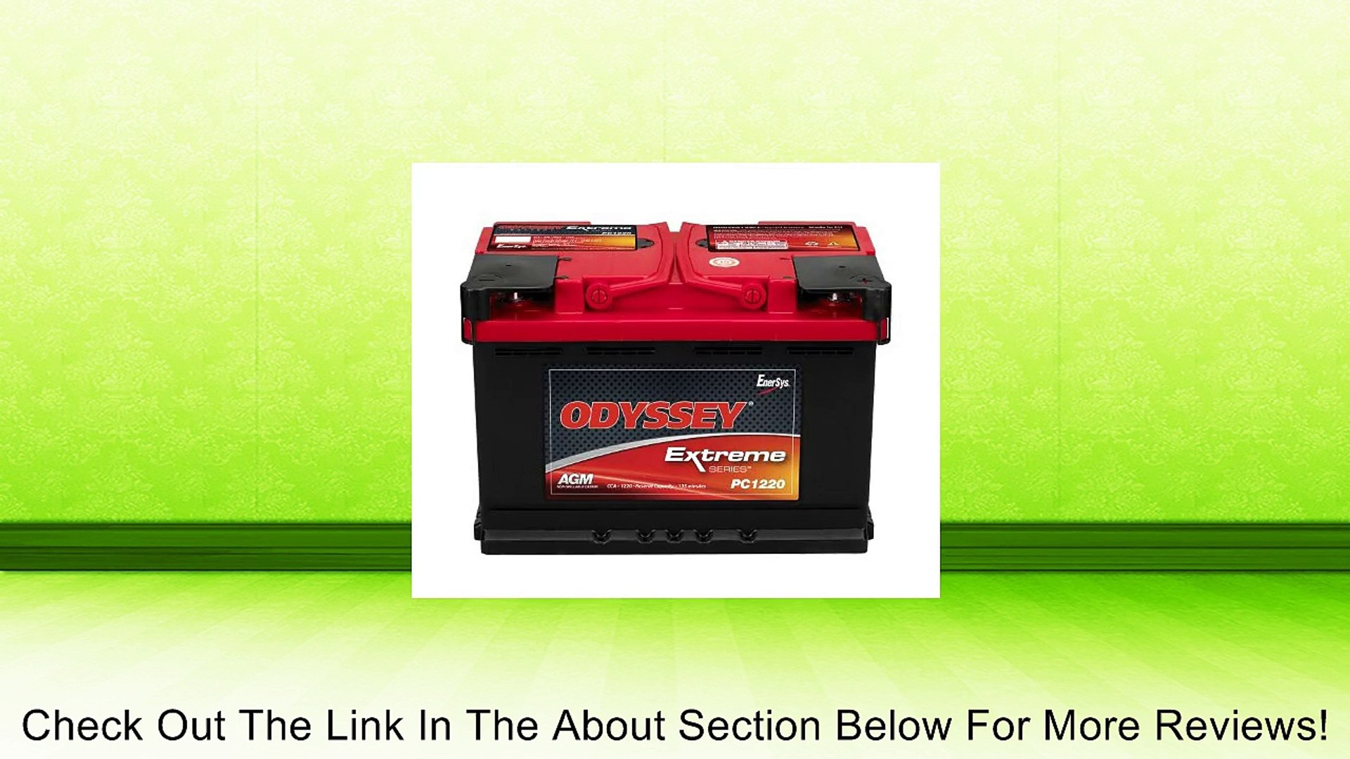 Odyssey Batteries PC1220-A Automotive/Light Truck and Van Battery Review