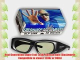 Ultra-Clear HD 144 Hz DLP LINK 3D Active Rechargeable Shutter Glasses for All 3D DLP Projectors