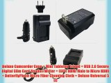 Must Have Accessory Kit For Sony HDR-CX220 HDR-CX220/B HDR-CX330 HDR-CX900 HDR-PJ810 HDR-PJ540