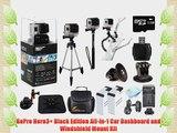 GoPro Hero3  Black Edition Pro Car Mount Kit: Kit Includes Dashboard Mount   Windshield Mount