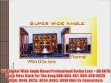 0.5x Digital Wide Angle Macro Professional Series Lens   DB ROTH Micro Fiber Cloth For The