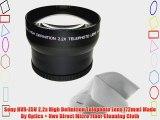 Sony HVR-Z5U 2.2x High Definition Telephoto Lens (72mm) Made By Optics   Nwv Direct Micro Fiber