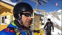 Incroyable : Le ski saut à l'élastique ! Ski Bungee Ride à Tignes
