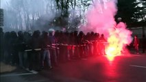 Rioters clash with police in Cremona, northern Italy