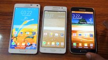 Samsung Galaxy Note 4 vs Samsung Galaxy Grand Prime vs Samsung Galaxy S5 Display Comparison HD