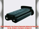 DENAQ 2000mAh Li-Ion Camera/Camcorder Battery for Canon EOS 1D 1Ds 1D Mark II 1Ds Mark II 1D
