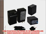 Progo 2 High Capacity Rechargeable Li-Ion Battery and Charger Kit for Sony NP-FV100. Fits Sony