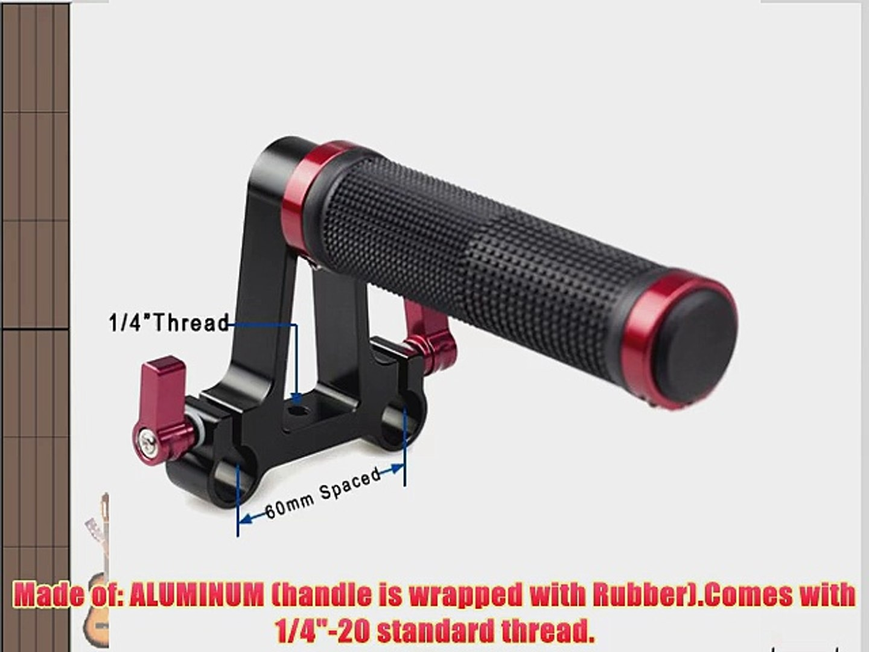 CowboyStudio Professional Mount Rail Block Rod Clamp Rig for 15mm Rod DSLR Rig Rail System Follow Focus