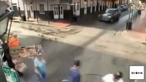 UFO OVNI - Alien Ghost Giant Caught On New Orleans Street Cam.