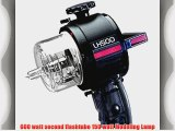 Norman LH500 500 series 600 watt second Lamphead with 150 watt quartz Modeling Lamp