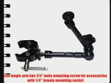 11 Articulating Magic Friction Arm and Crab Clamp Kit for Mounting LCD Monitor LED Panels on