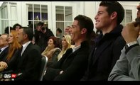 Football news - Cristiano Ronaldo & James Rodríguez Crying with Laughter at Jorge Mendes' book Presentation - football player stats -