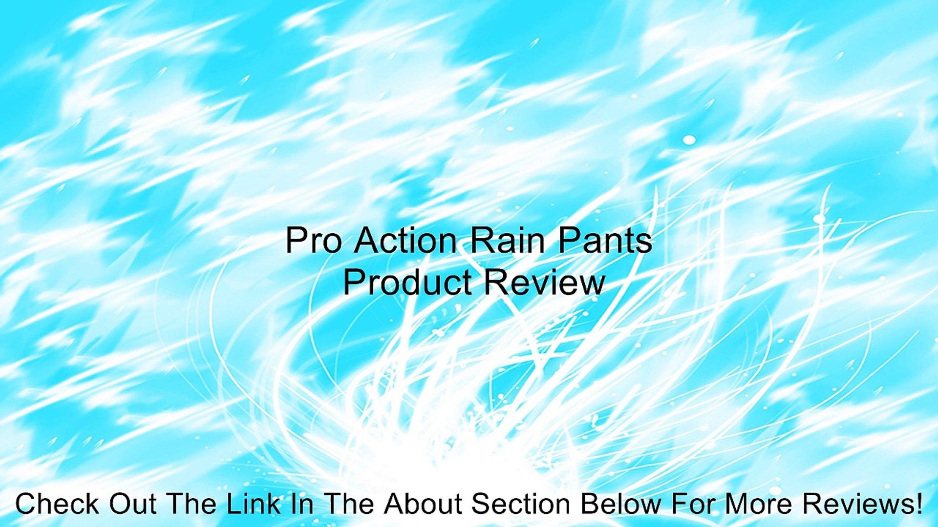 Pro Action Rain Pants Review