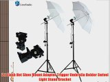 LimoStudio 400 Watts Photo Portrait Studio Continuous Umbrella Lighting Light Kits - (2)x 45W
