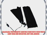 LimoStudio PHOTOGRAPHY LIGHTING STAND WITH 105W PHOTO LIGHT BULB AND REFLECTOR SOFT BOX AGG698