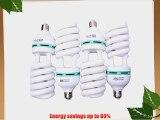 StudioPRO Professional Quality 85 Watt CFL Photo Fluorescent Spiral Daylight Light Bulbs 5500K