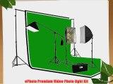 ePhoto 2700 Watt PHOTOGRAPHY STUDIO VIDEO CONTINUOUS LIGHTING SOFTBOX KIT 3PC 6 x 9 Muslin