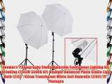 Neewer? Photography Studio Umbrella Continuous Lighting Kit including (2)45W 5500K CFL Daylight
