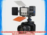 Neewer Bestlight Camera 6 LED 15W IS-L6 LED Video Light with Color Temperature 5000K/6000K