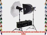 Interfit INT187 Stellar X Tungsten Umbrella and Softbox Kit with 2 Heads