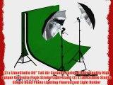 LimoStudio PHOTOGRAPHY STUDIO LIGHTING KIT BLACK UMBRELLA LIGHT MUSLIN BACKDROP WHITE BLACK