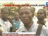 La réaction des étudiants Congolais de l'UNIKIN à la violente répression policière contre les manifestations dénonçant le projet de modification de la loi électorale