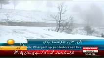 Snowfall in Malam Jabba Swat Valley by Sherin Zada