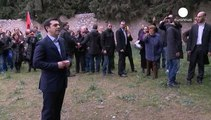 Eine Botschaft an Deutschland? Tsipras besucht Gedenkstätte für Widerstandskämpfer des II. WK