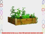 Gronomics MRGB-2L 48-48 48-Inch by 48-Inch by 13-Inch Modular Raised Garden Bed Unfinished