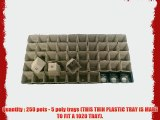 250 Square Jiffy Peat Pots Size 2x2 - Jiffy Poly Pak ~ Pots Are 2 Inch Square At the Top and