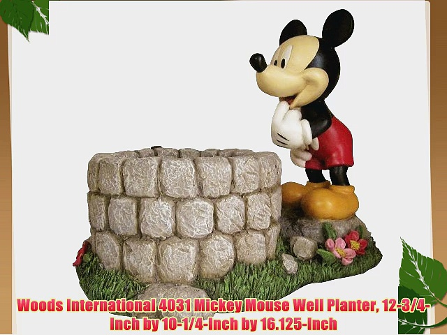 Woods International 4031 Mickey Mouse Well Planter 12-3/4-Inch by 10-1/4-Inch by 16.125-Inch