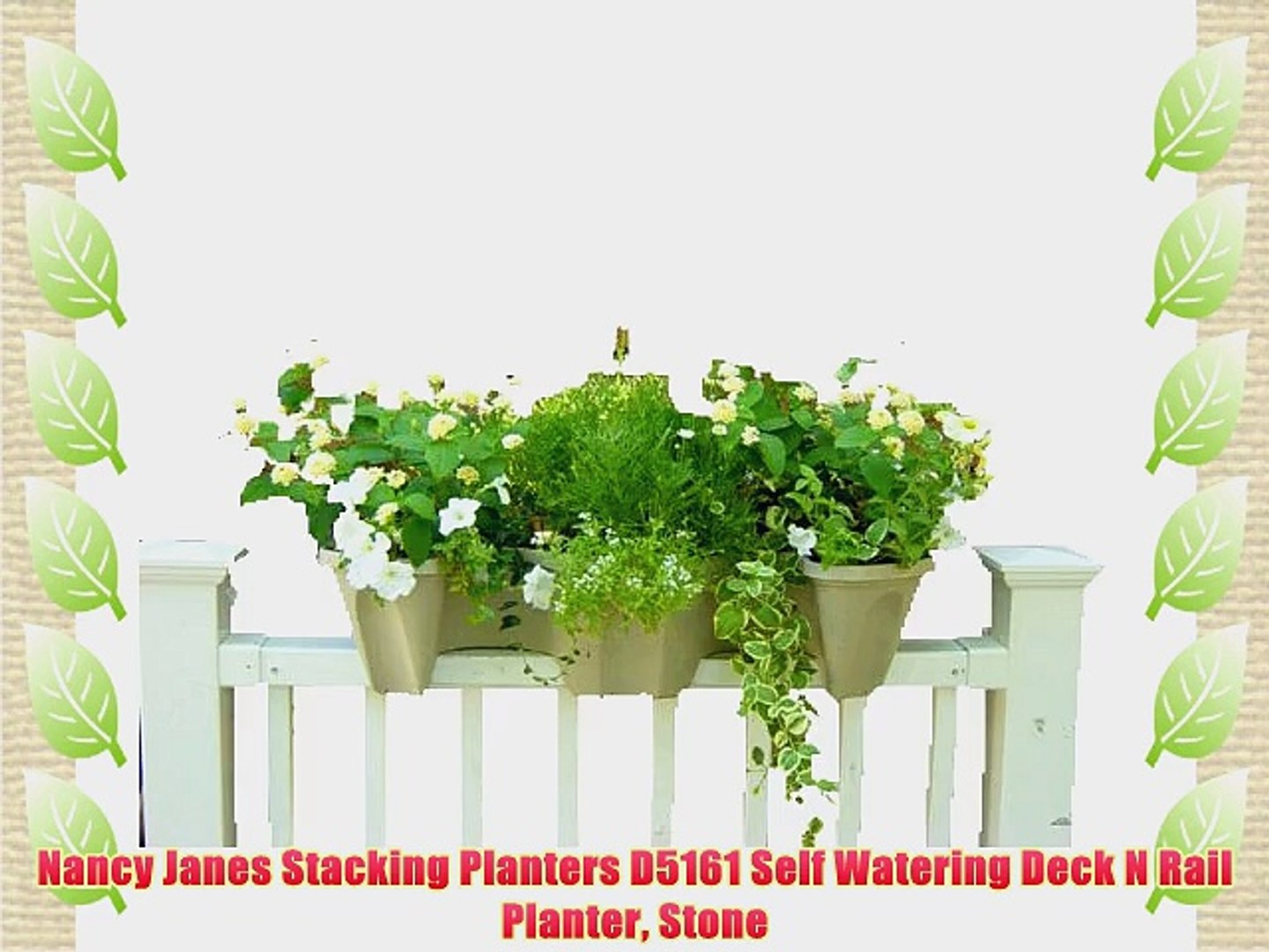 Picture of: Nancy Janes Stacking Planters D5161 Self Watering Deck N Rail Planter Stone Video Dailymotion