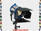 Arri 650/3 Compact Fresnel Kit with 3 650 Watt Plus Fresnel Tungsten Lights Bulbs Accessories
