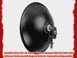 Fotodiox Dish-Kit-18-Canon 18-Inch Beauty Dish Kit with Soft Diffuser Sock and 50 Degree Grid