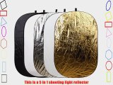 78 x 59 (200 x 150cm) 5 in 1 Portable Oval Collapsible Multi Disc Photography Studio Light