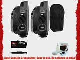 PocketWizard Plus X Radio Trigger with 10 Channels (2 Pack)   Carrying Bag for 2 Triggers