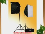 ePhoto 3000-Watt Digital Photography Studio Video Lighting Kit 2 Softbox Studio Video Light