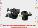 ePhoto Light Stand Support Studio Super Clamp Dual Head Clamps by ePhoto INC Sa28cl