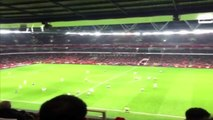 footbal skills - Lots of Arsenal fans sang One Arsene Wenger during the win v Newcastle